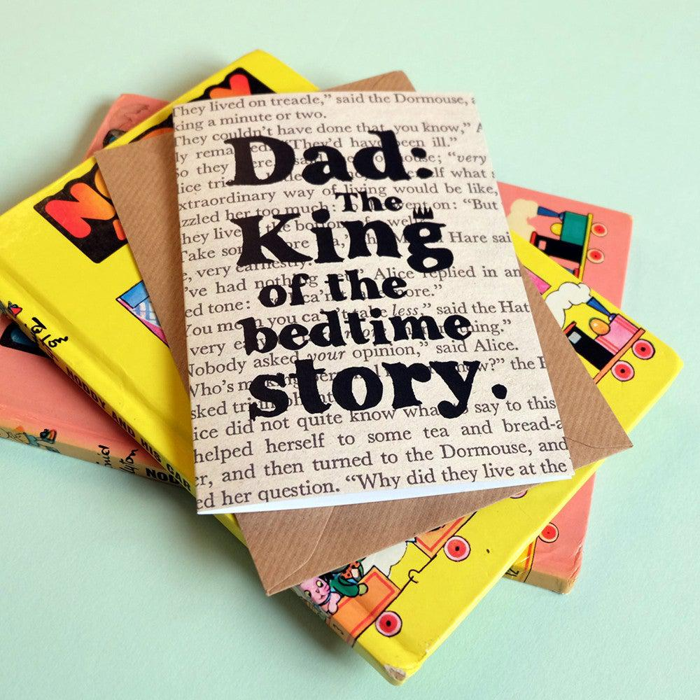 Card - Dad: The King of the Bedtime Story-Cards-Book Lover Gifts