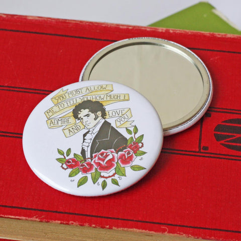 Pocket Mirror - Jane Austen - Mr Darcy Proposal