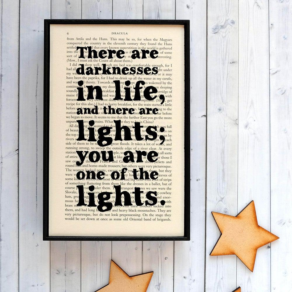 Book Print - Darkness and Light - Dracula-Print / Poster-Book Lover Gifts