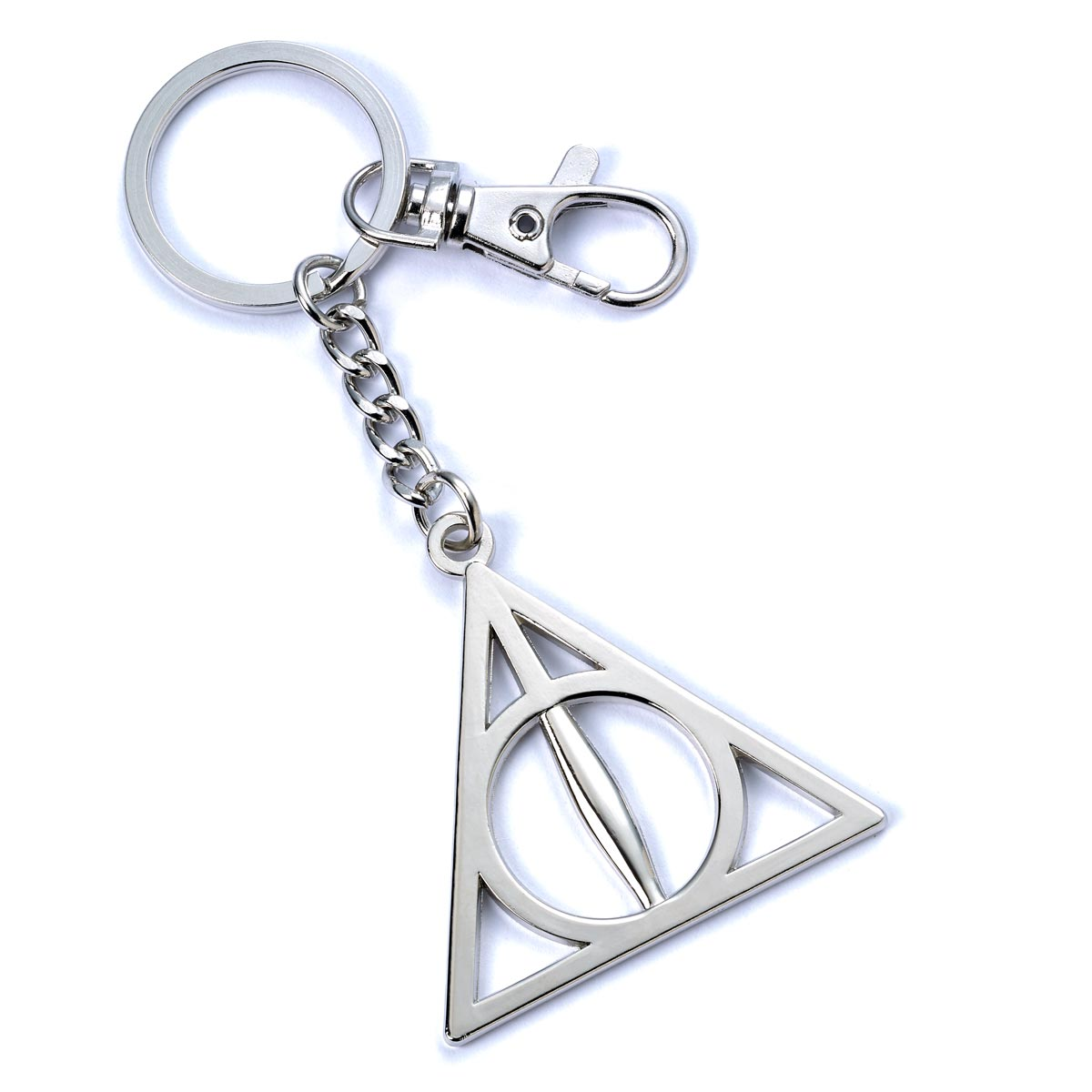 Keyring - Deathly Hallows - Harry Potter - Silver Plated-keyring-Book Lover Gifts