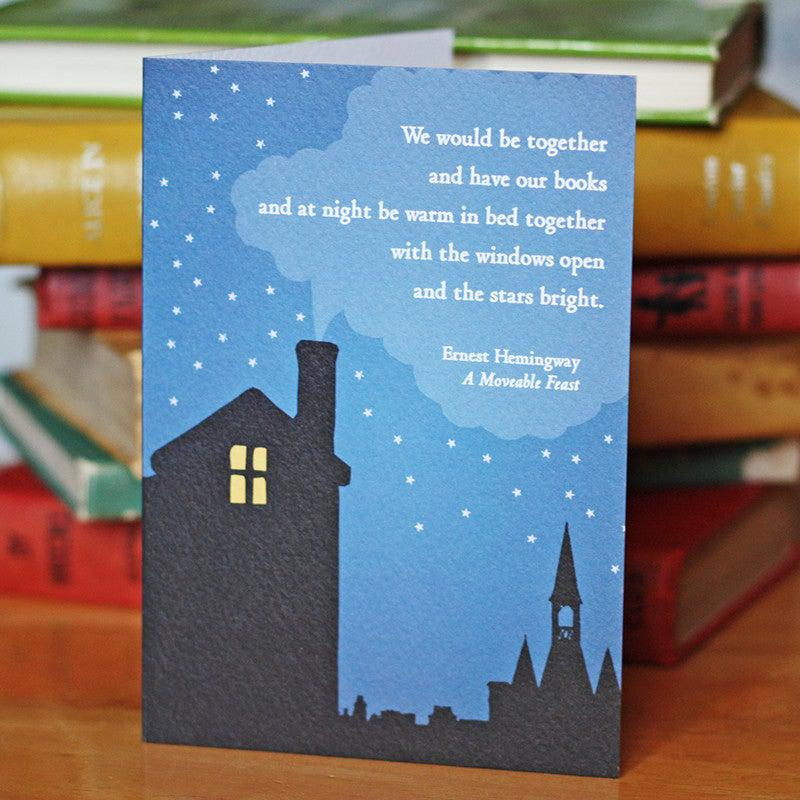 Card - Together with our Books - Ernest Hemingway-Cards-Book Lover Gifts