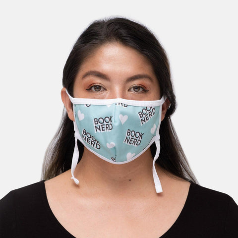 Face Mask - Adult - Adjustable - Book Nerd