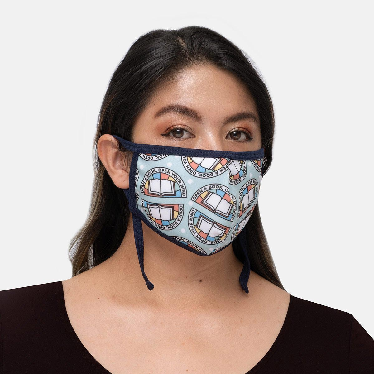 Face Mask - Adult - Adjustable - Open a Book, Open Your Mind