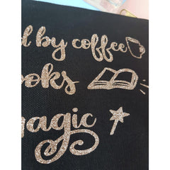 Make-Up Bag / Case - Fuelled by Coffee / Tea, Books and Magic