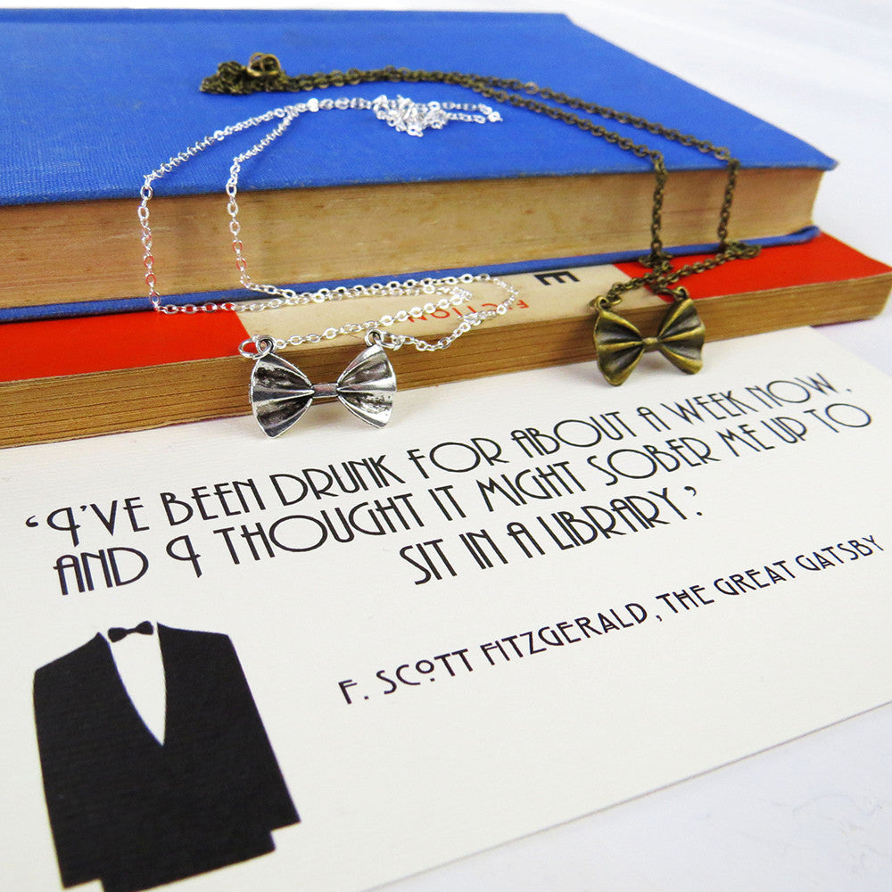 Necklace - Bow Tie - The Great Gatsby-Jewellery-Book Lover Gifts