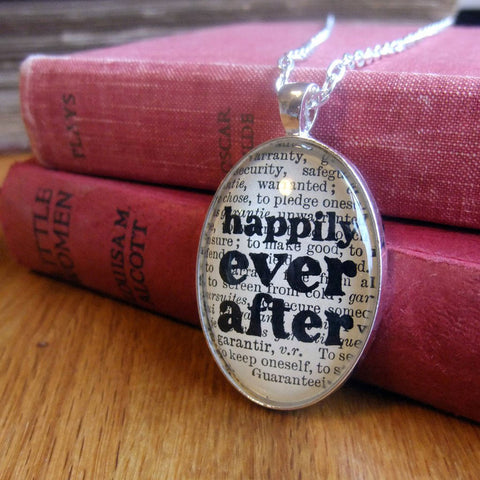 Necklace - Happily Ever After - Book Lover - Fairytale
