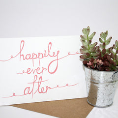 Card - Wedding / Anniversary - Happily Ever After