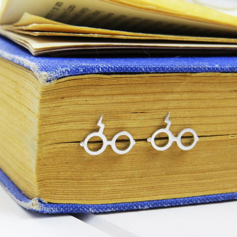 Stud Earrings - Wizard Glasses - Magical