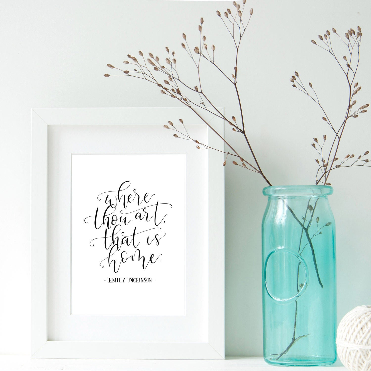 Print - Where Thou Art, That Is Home - A4 / A5-Print / Poster-Book Lover Gifts