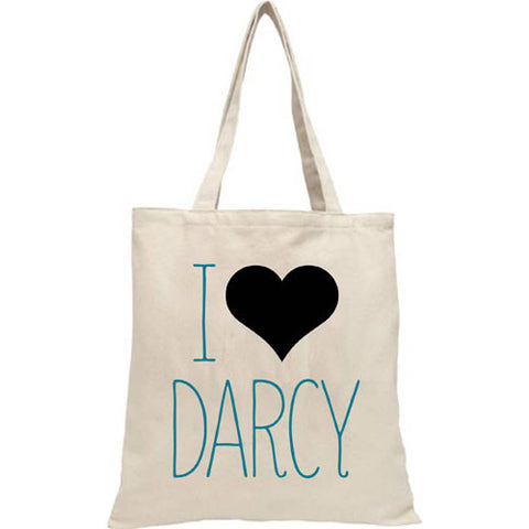 Bag / Tote - I Love Darcy - Pride & Prejudice - Jane Austen-Bag-Book Lover Gifts