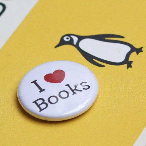 Badge / Pin - Love / Heart / I ♥ Books-Gifts-Book Lover Gifts