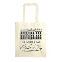 Tote Bag - Jane Austen - I'd Rather Be At Pemberley-Bag-Book Lover Gifts