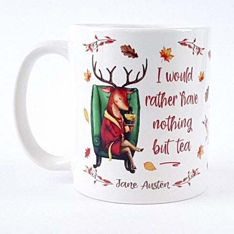 Mug - Deer - Jane Austen - Nothing But Tea-Mug-Book Lover Gifts