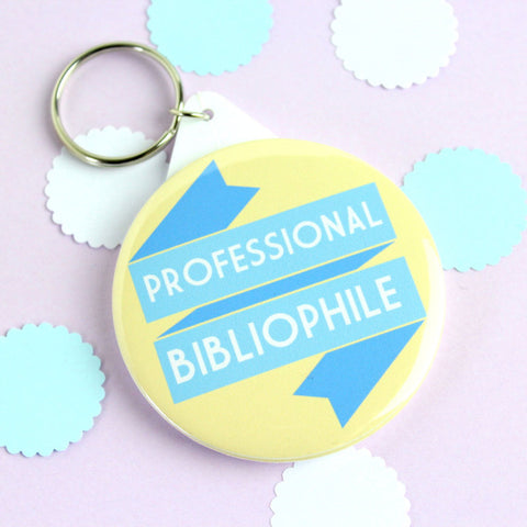 Key Ring - Professional Bibliophile - Book Lover-Jewellery-Book Lover Gifts