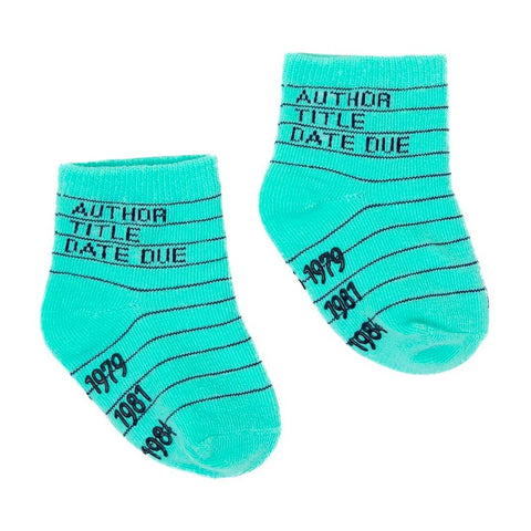 Baby / Toddler Socks - Library Card Design - Set of Four