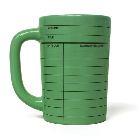 Mug - Library Card - Multiple Colours