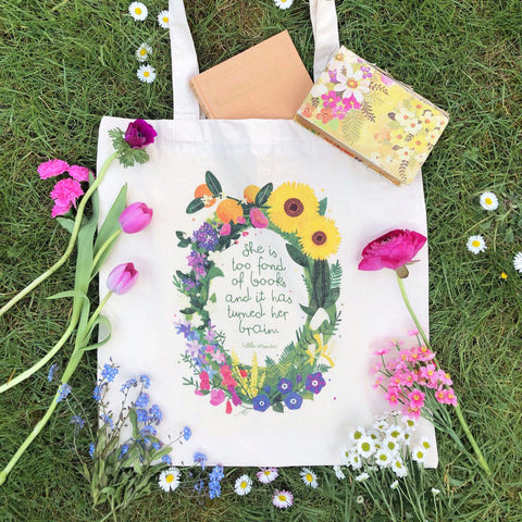 Tote Bag - She is Too Fond of Books... - Little Women