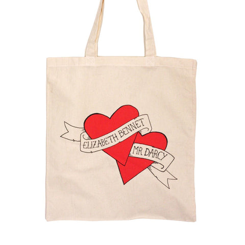 Tote Bag - Jane Austen - Elizabeth Bennet & Mr Darcy