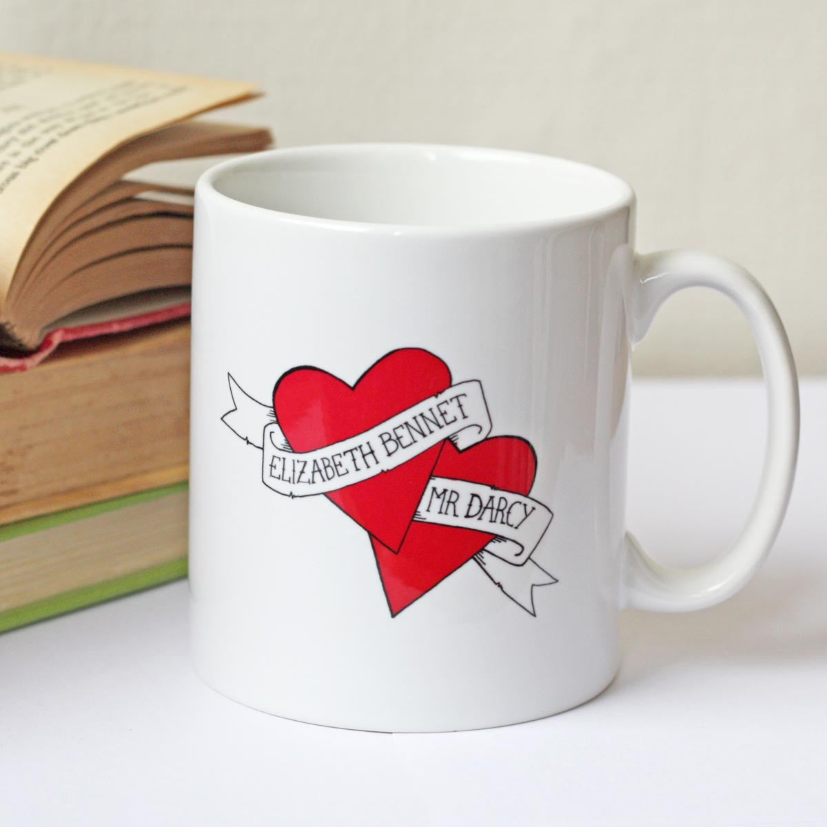 Mug - Jane Austen - Elizabeth Bennet & Mr Darcy-Mug-Book Lover Gifts