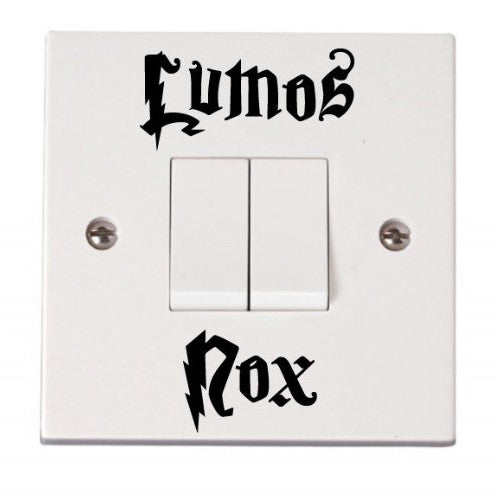 Vinyl Sticker - Lumos / Nox - On / Off Lightswitch Decal - Harry Potter