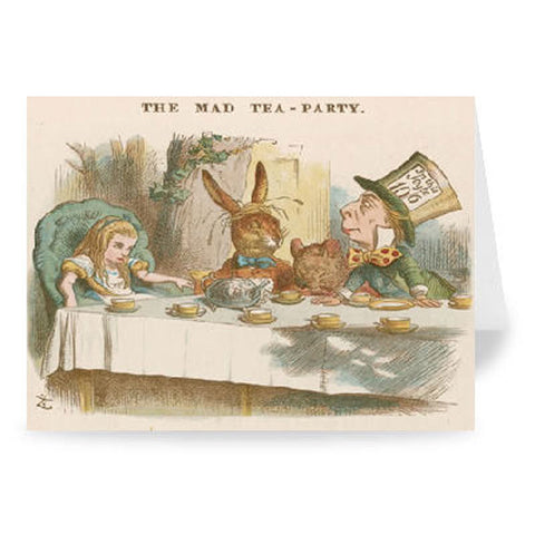 Card - Alice in Wonderland - Mad Hatter's Tea Party