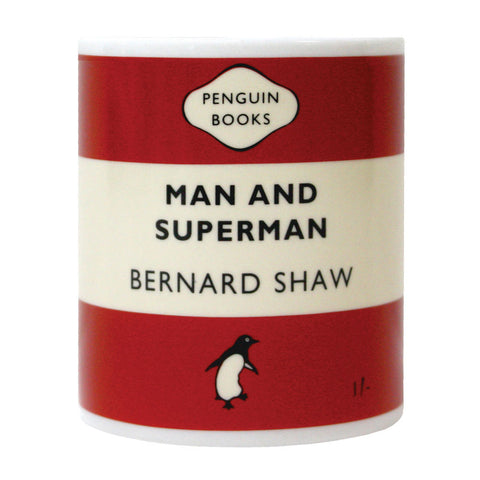 Mug - Penguin - Man & Superman - Bernard Shaw-Mug-Book Lover Gifts