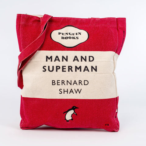 Book Bag - Man and Superman - Penguin-Bag-Book Lover Gifts
