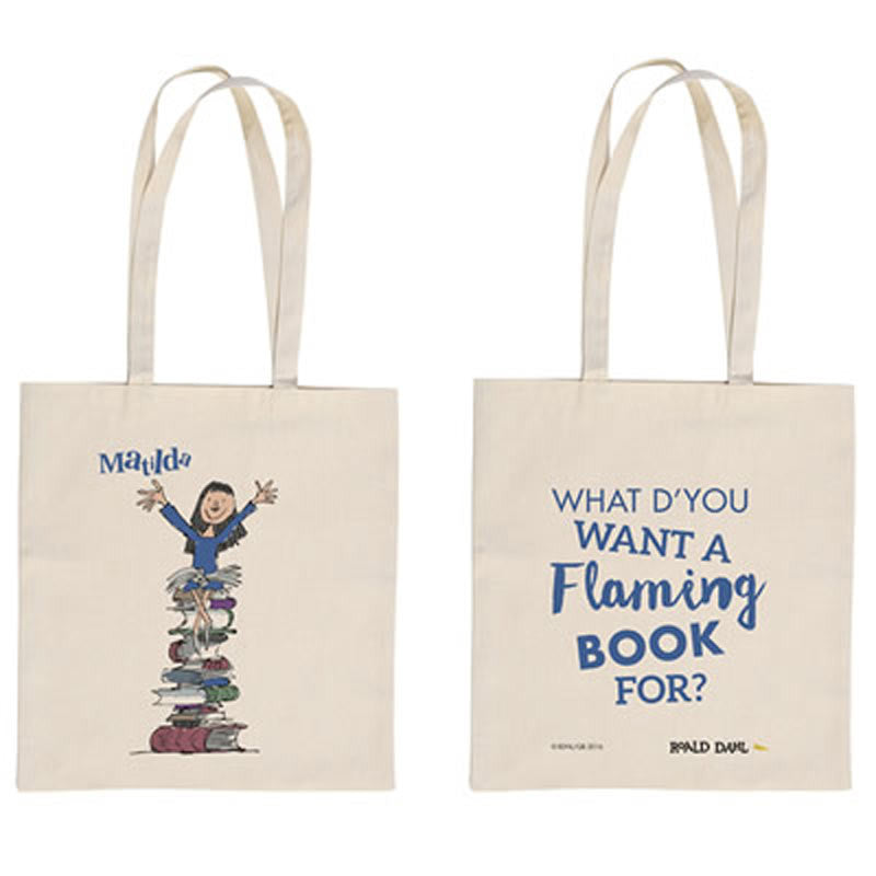 Tote Bag - Mathilda - Roald Dahl - Flaming Book