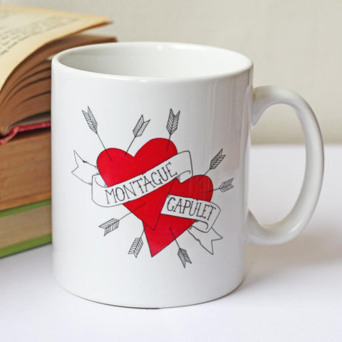 Mug - Shakespeare - Montague & Capulet - Hearts