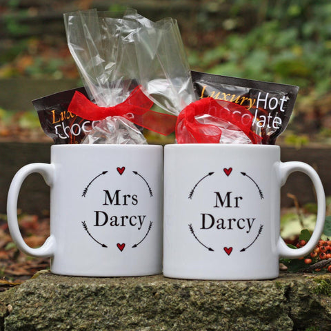 Gift Set - Mug & Hot Chocolate - Mr or Mrs Darcy