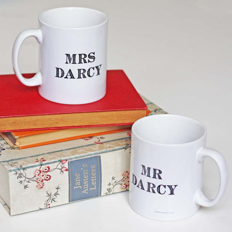 Mug - Mr & Mrs Darcy - Jane Austen Wedding Gift Set-Mug-Book Lover Gifts
