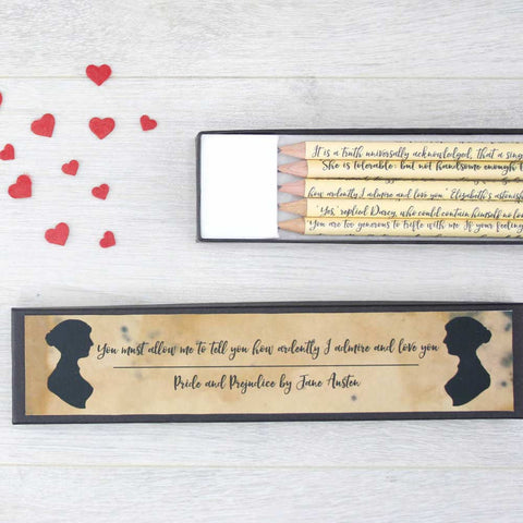 Pencils Set - Pride and Prejudice Quotations - Personalised