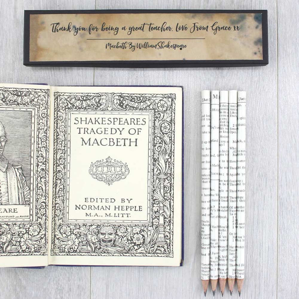 Pencils Set - Shakespeare Quotations - Personalised-Stationery-Book Lover Gifts