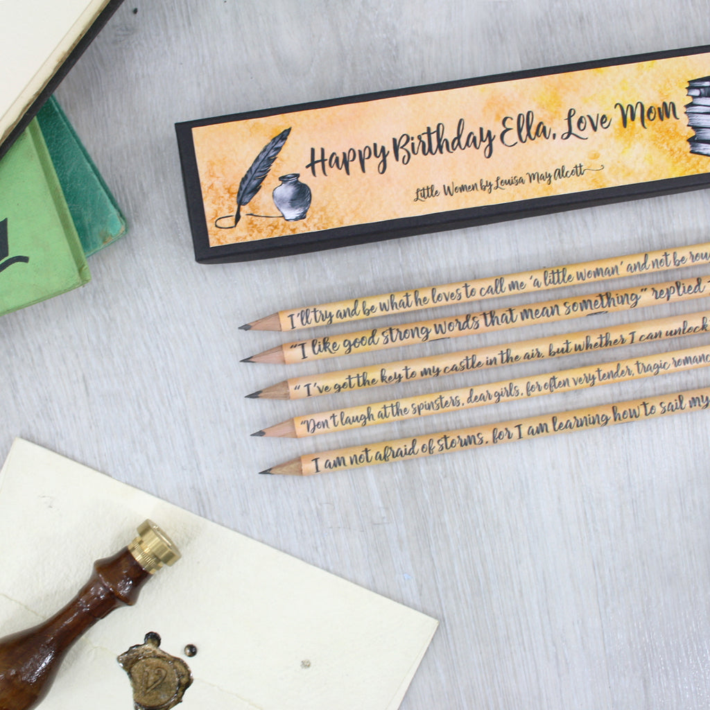 Pencils Set - Little Women Quotations - Personalised
