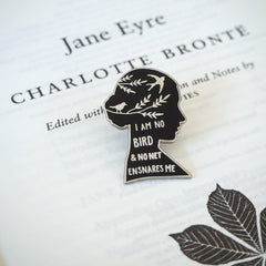 Enamel Pin Badge - I am No Bird - Silhouette - Jane Eyre