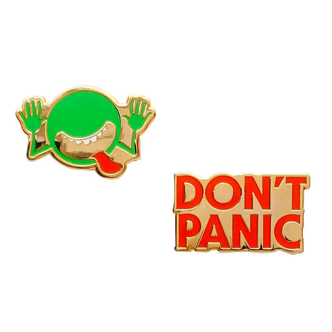 Enamel Pin Badge Set - The Hitchhiker's Guide to the Galaxy