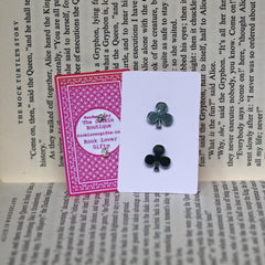 Earrings - Alice in Wonderland - Playing Cards - NEW