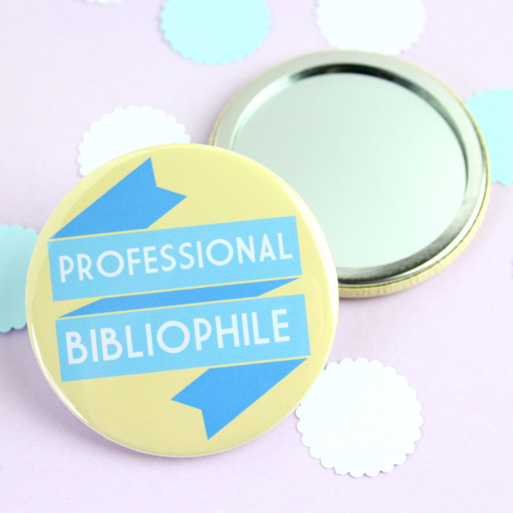 Pocket Mirror - Professional Bibliophile - Book Lover-Jewellery-Book Lover Gifts