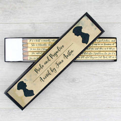 Pencils Set - Pride and Prejudice Quotations-Stationery-Book Lover Gifts