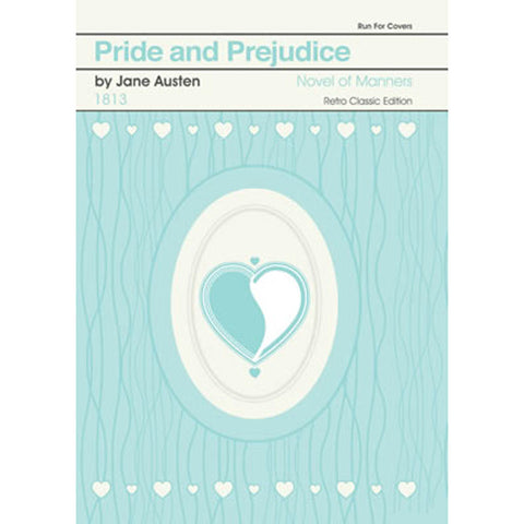 Print - Retro Classic Book Cover - Pride & Prejudice-Print / Poster-Book Lover Gifts