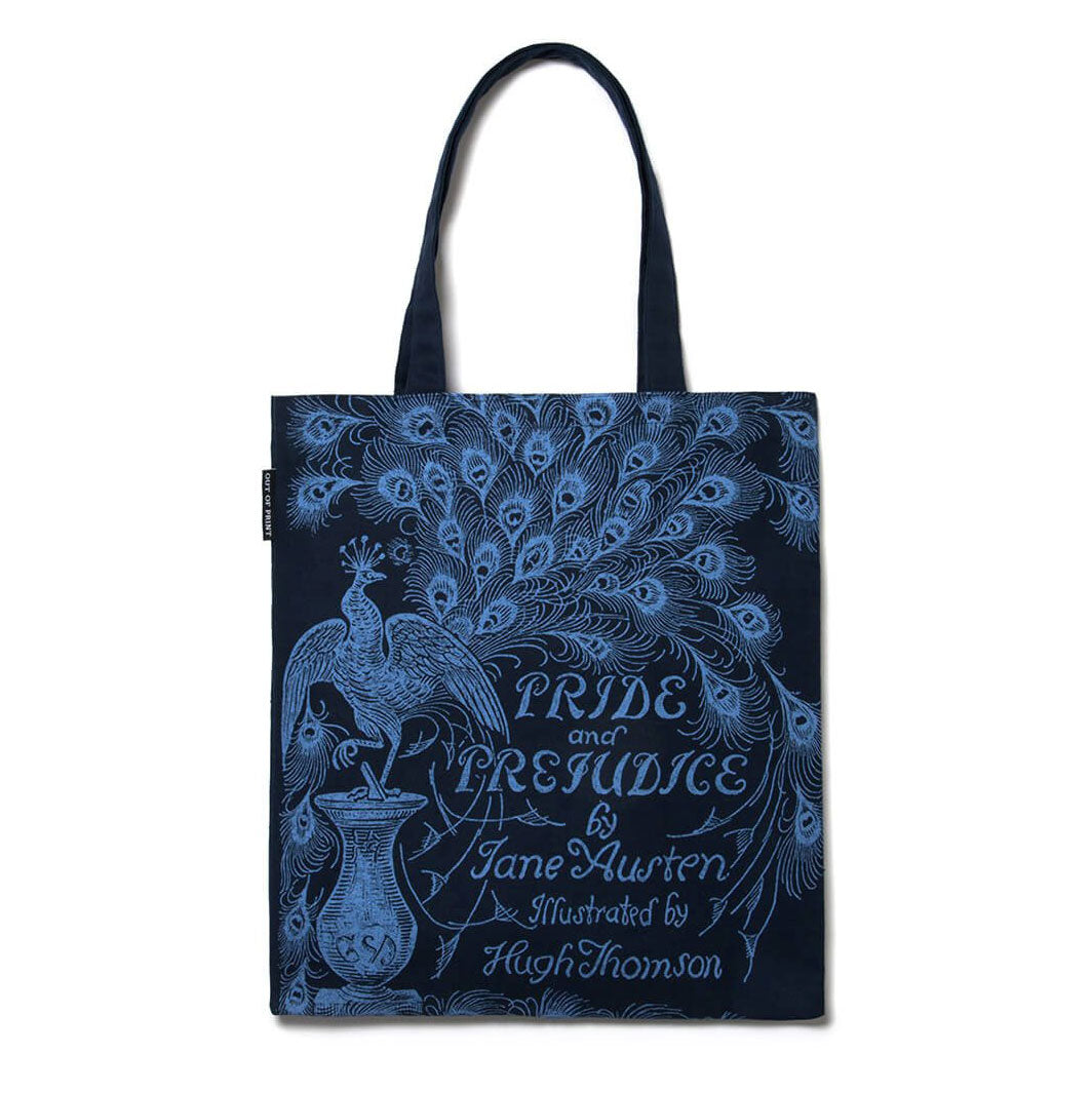 Tote Bag - Jane Austen - Pride & Prejudice - Peacock