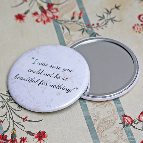 Pocket Mirror - Pride & Prejudice - Jane Austen - Beautiful for Nothing