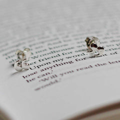Earrings - Quotation / Speech Marks - Silver-Jewellery-Book Lover Gifts
