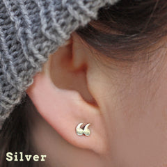 Earrings - Quotation / Speech Marks - Silver