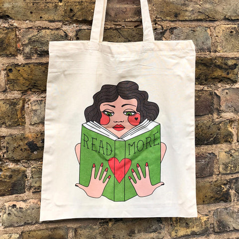 Bag / Tote - Vintage Lady - Read More Books
