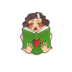 Brooch / Pin / Badge - Read More Books - Enamel