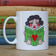Mug - Vintage Lady - Read More Books