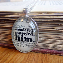 Necklace - Reader I Married Him - Jane Eyre - Bronte