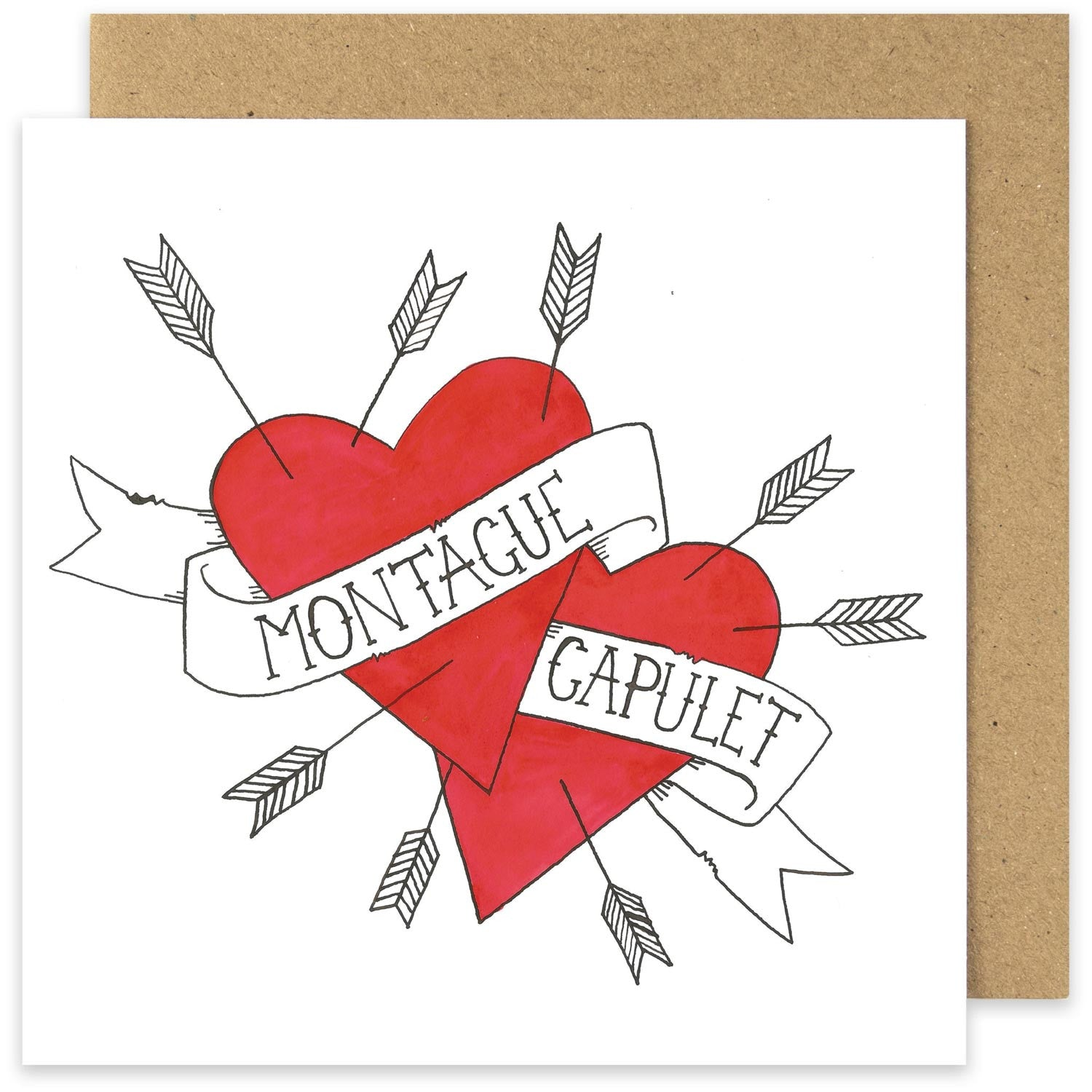 Card - Montague & Capulet - Valentine-Cards-Book Lover Gifts