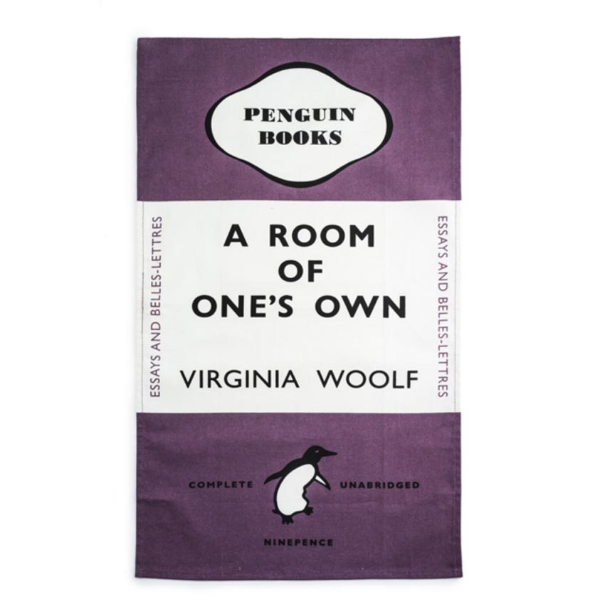 Penguin Book Cover Tea Towels : Tea towel a room of one s own penguin book lover gifts